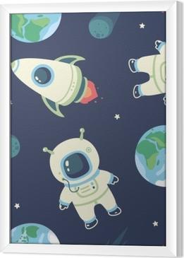 cosmonaut Framed Canvas