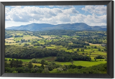 Country scene near Hawkshead the Lake District UK Framed Canvas