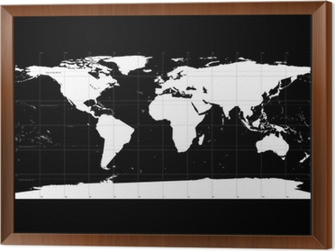 Detailed world map with names of countries vector isolated by g detailed world map with names of countries vector isolated by g framed canvas gumiabroncs Image collections
