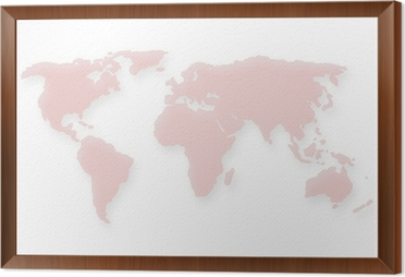 Dotted red world map wall mural pixers we live to change dotted red world map framed canvas gumiabroncs Images