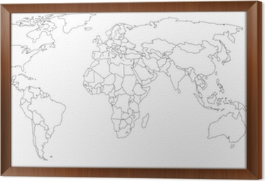 Empty world map wall mural pixers we live to change empty world map framed canvas gumiabroncs Choice Image