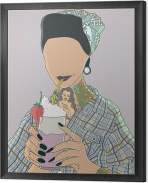 Faceless woman - Ricardo X Parker Framed Canvas