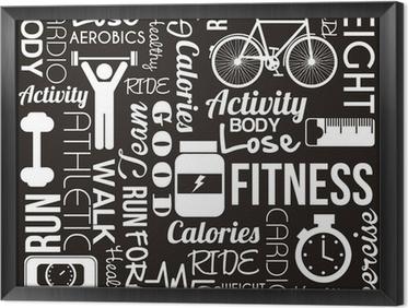 fitness vector Framed Canvas