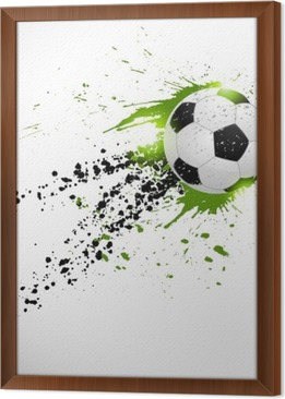 Flying soccer ball Framed Canvas