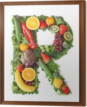 fruit and vegetable alphabet letter r wall mural pixers we
