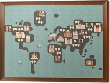 Kids world map poster pixers we live to change gumiabroncs Images