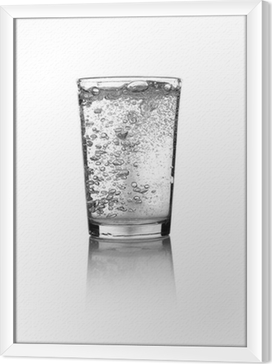 Glass of water Framed Canvas