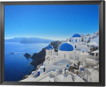 Grèce - Santorin (Oia village) Framed Canvas