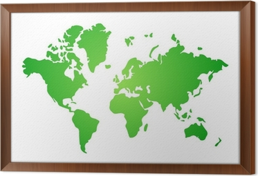 Green and white flat world map illustration vector wall mural green and white flat world map illustration vector framed canvas gumiabroncs Image collections