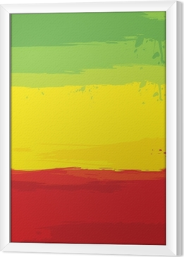 grunge background with flag of Ethiopia Framed Canvas