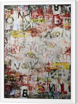 Grunge textured background Framed Canvas