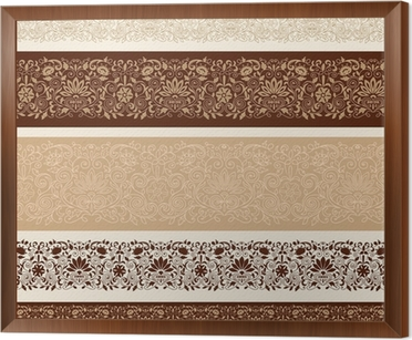 Henna Mehndi Vector : Henna mehndi doodle border designs vector wall mural u2022 pixers® we