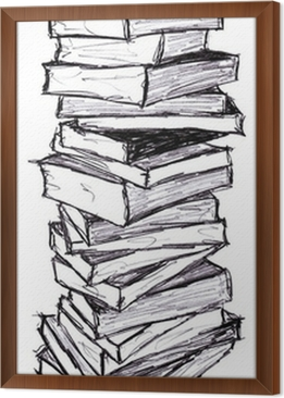 Illustration Pile De Livre Wall Mural Pixers We Live To