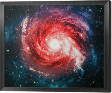 Incredibly beautiful spiral galaxy somewhere in deep space Framed Canvas