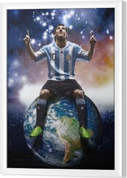 Leo Messi Framed Canvas