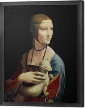Leonardo da Vinci - Lady with an Ermine Framed Canvas