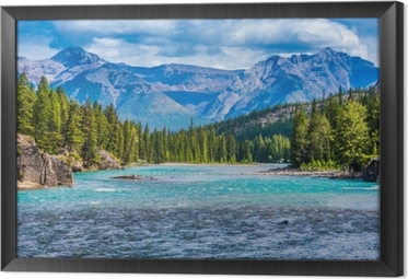 Lovely Canadian mountain landscape Framed Canvas