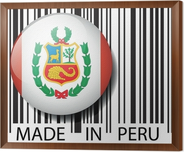 Made in Peru barcode  Vector illustration Wall Mural