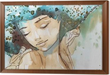 małe tęsknoty Framed Canvas