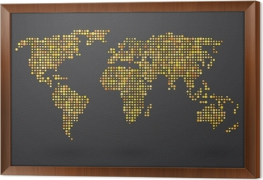 Map of world composed of small yellow polka dots poster pixers map of world composed of small yellow polka dots poster pixers we live to change gumiabroncs Gallery