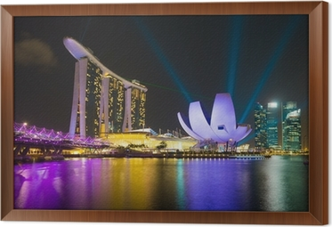 marina bay sands hotel with laser lighting show wall mural pixers