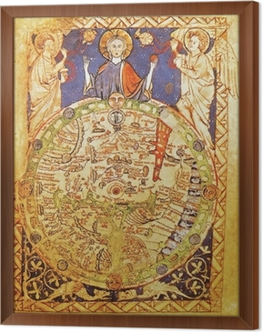 Medieval map with jerusalem as center of the world poster pixers medieval map with jerusalem as center of the world framed canvas gumiabroncs Image collections