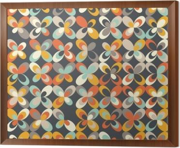 Midcentury Geometric Retro Background Vintage Brown Orange And