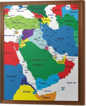 Old Globe Map of The Middle East Countries Wall Decal • Pixers® • We ...