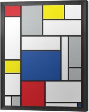 mondrian inspired art Framed Canvas