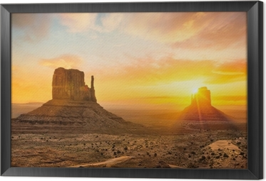 Monument Valley Framed Canvas