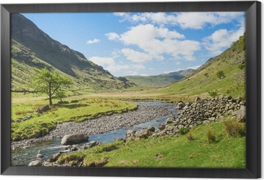 Mountain stream in the Lake District Framed Canvas