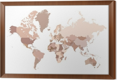 Multicolored world map vector illustration canvas print pixers multicolored world map vector illustration framed canvas gumiabroncs Image collections