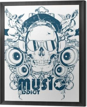 Music addict Framed Canvas