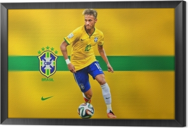 Neymar Framed Canvas