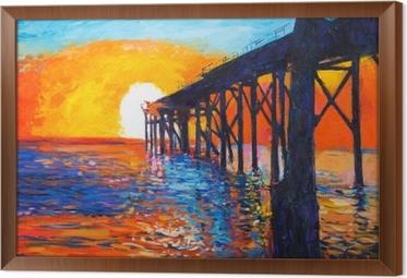 Ocean view Framed Canvas