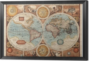 Old map (1626) Framed Canvas