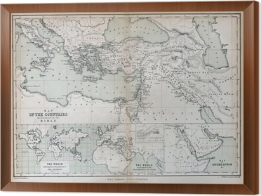 Old map of countries mentioned in the bible 1870 wall mural old map of countries mentioned in the bible 1870 framed canvas gumiabroncs Image collections
