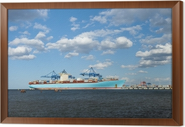 One of the largest container ships in the world  Wall Mural • Pixers
