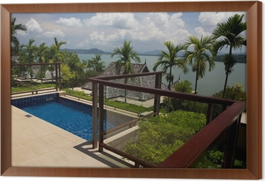 Piccola piscina sul terrazzo . Wall Mural • Pixers® • We live to change