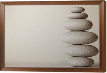 piedras zen framed canvas - Piedras Zen