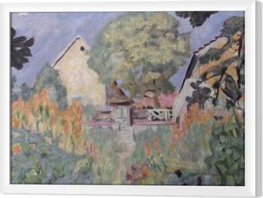 Pierre Bonnard - My House in Vernon - the Garden Framed Canvas