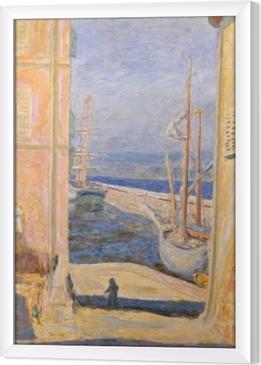 Pierre Bonnard - View on the Old Port, Saint-Tropez Framed Canvas