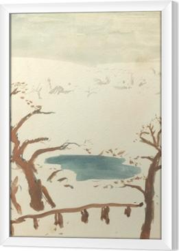 Pierre Bonnard - Winter Landscape Framed Canvas