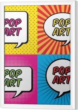 pop art Framed Canvas