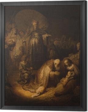 Rembrandt - Adoration of the Magi Framed Canvas