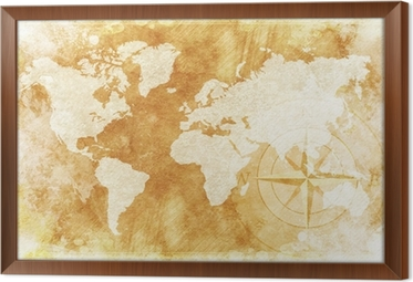 Rustic world map wall mural pixers we live to change rustic world map framed canvas gumiabroncs Choice Image