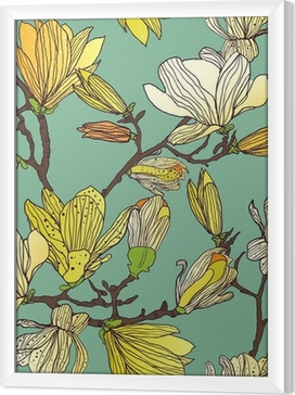 Seamless floral texture Framed Canvas