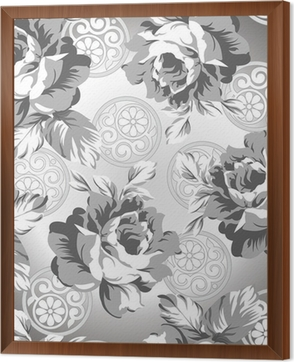 Seamless Silver Rose Flower Background Sticker O PixersR We Live To Change