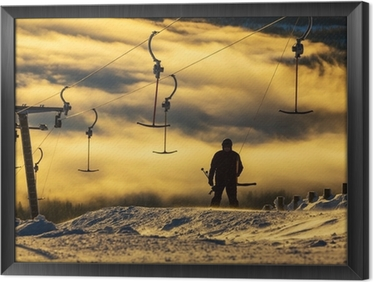 Ski resort Framed Canvas
