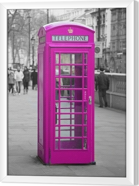 Telephone booth in London Framed Canvas